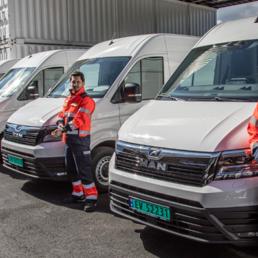 8 nye el-varebiler fra MAN klare for utslippsfri varedistribusjon i Oslo.