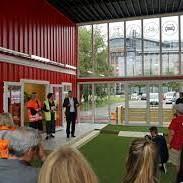 Fra åpningen av Filipstad Mobilitetspunkt 26. august 2019.