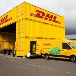 DHL Express Oslo City Hub ligger på Filipstad, midt mellom de tilsvarende anleggene til DB Schenker og Posten/Bring.