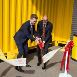 Klima- og miljøvernminister Sveinung Rotevatn foretok den offisielle åpningen sammen med administrerende direktør Terje Aarbog.